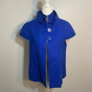 Luii blue top coat/cardigan- size M